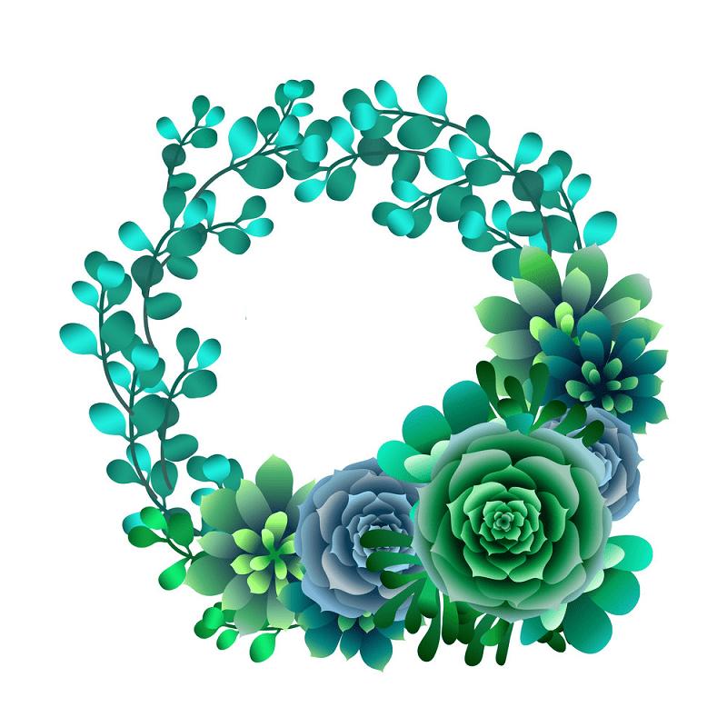 Succulent Wreath clipart 2
