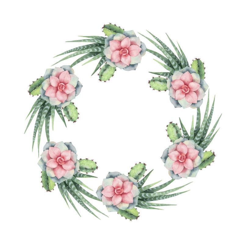 Succulent Wreath clipart free