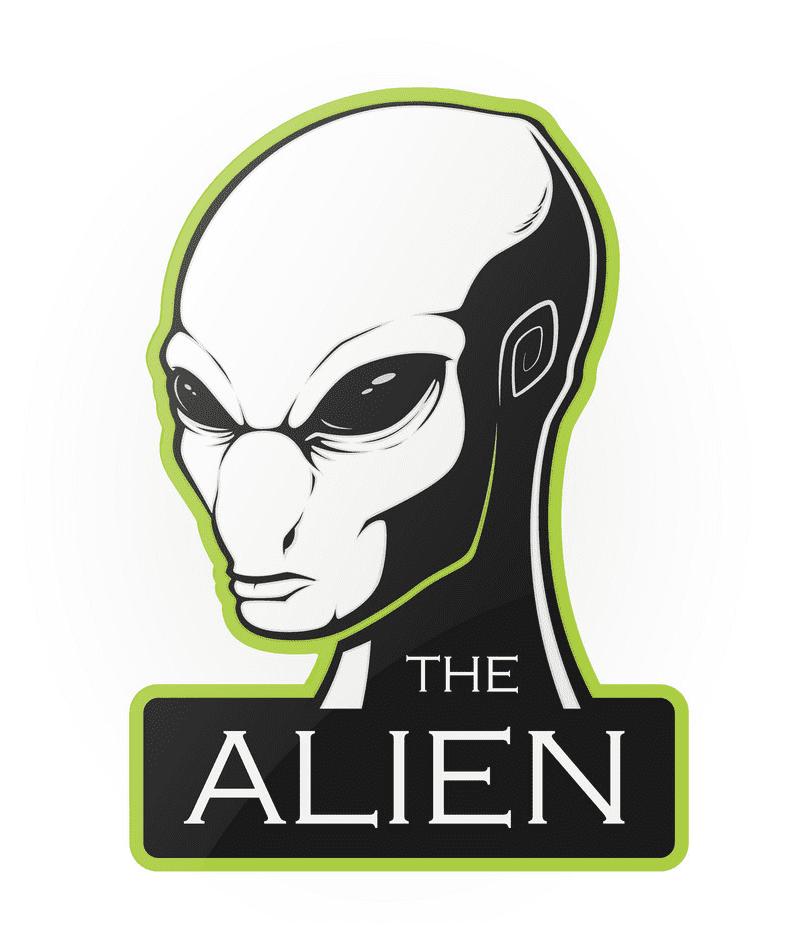 The Alien Head clipart