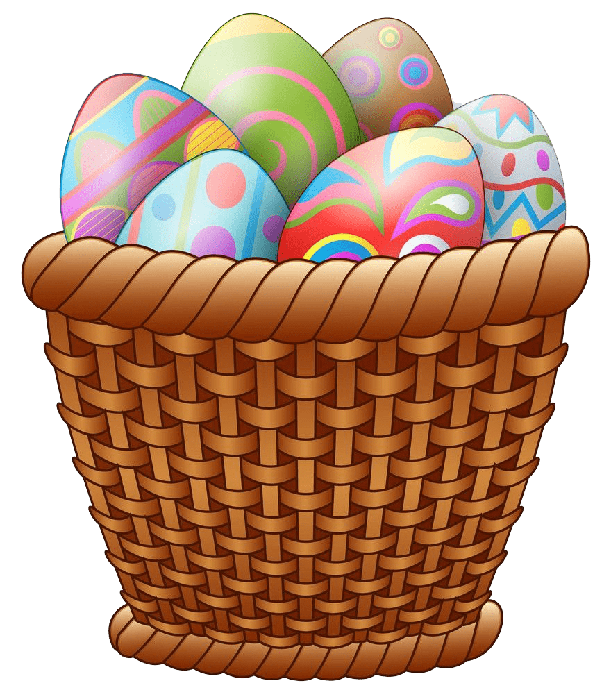 Transparent Easter Basket clipart