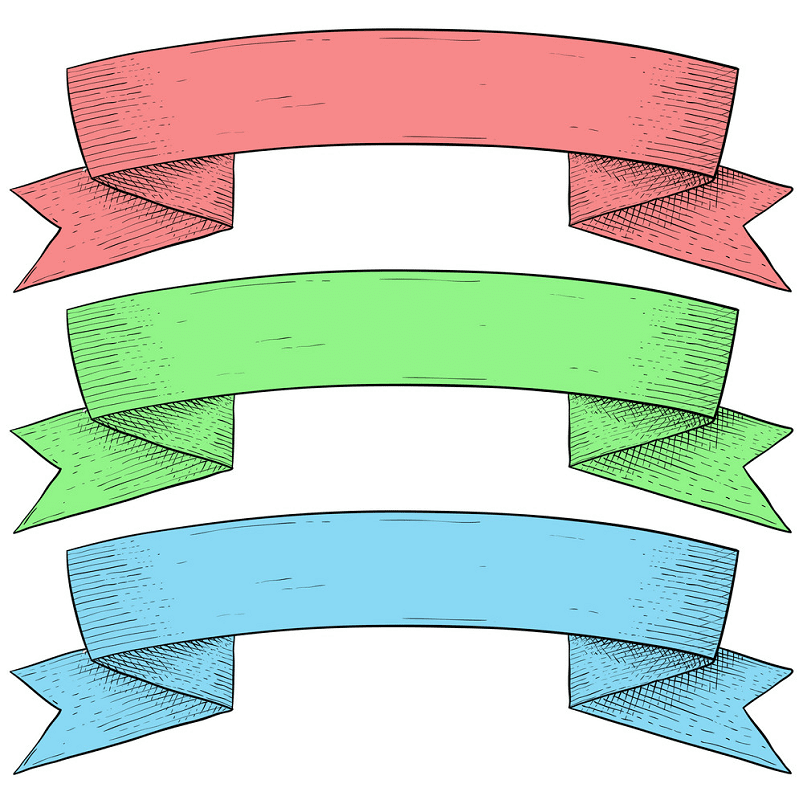 Vintage Ribbon Banners clipart png
