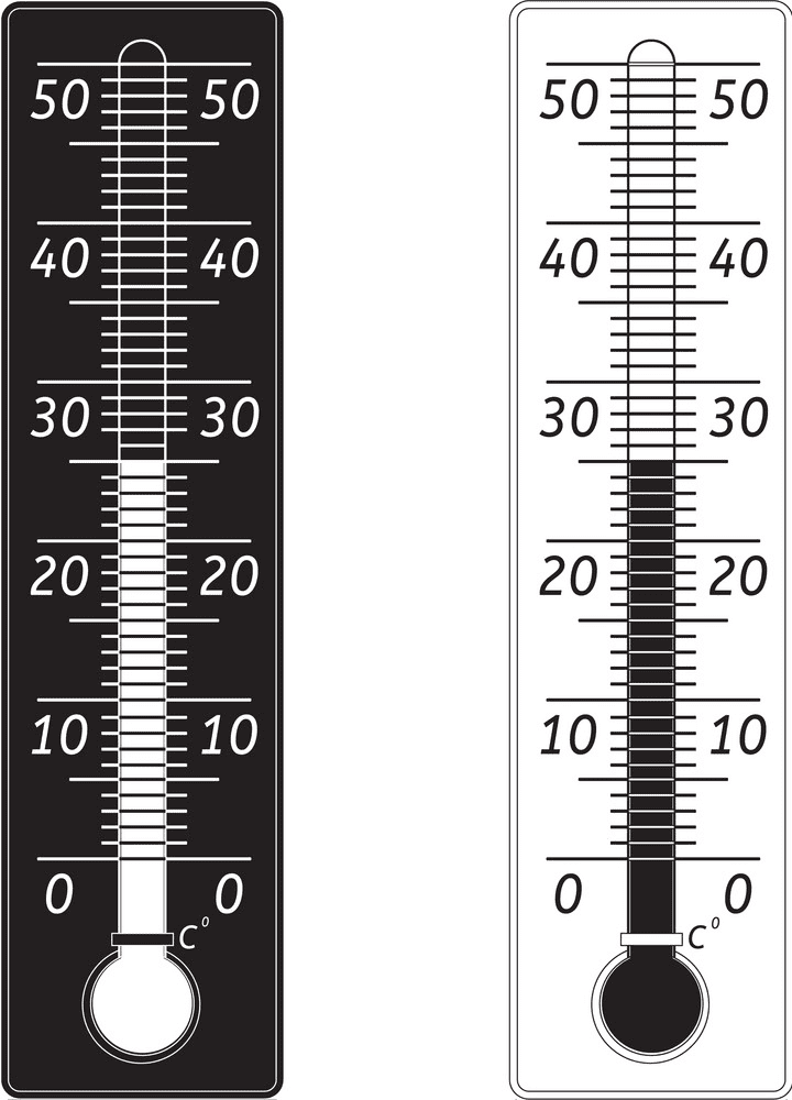 Weather Thermometer Clipart Black and White