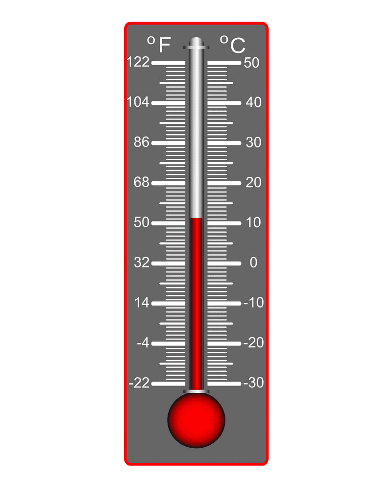 Weather Thermometer clipart transparent