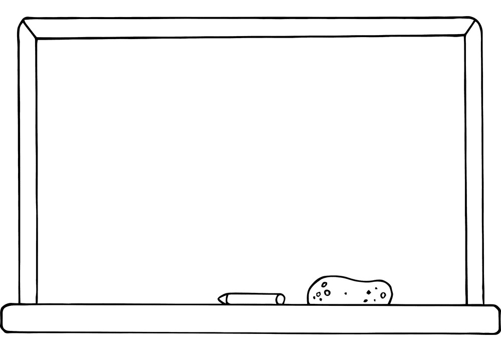 Whiteboard Clipart Black and White