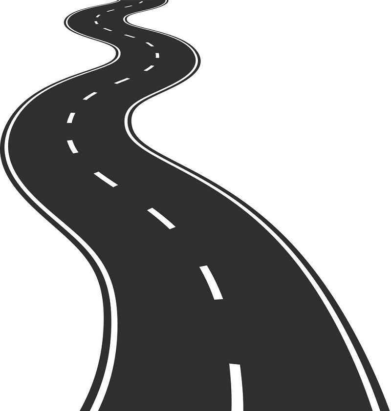 Winding Road clipart 3
