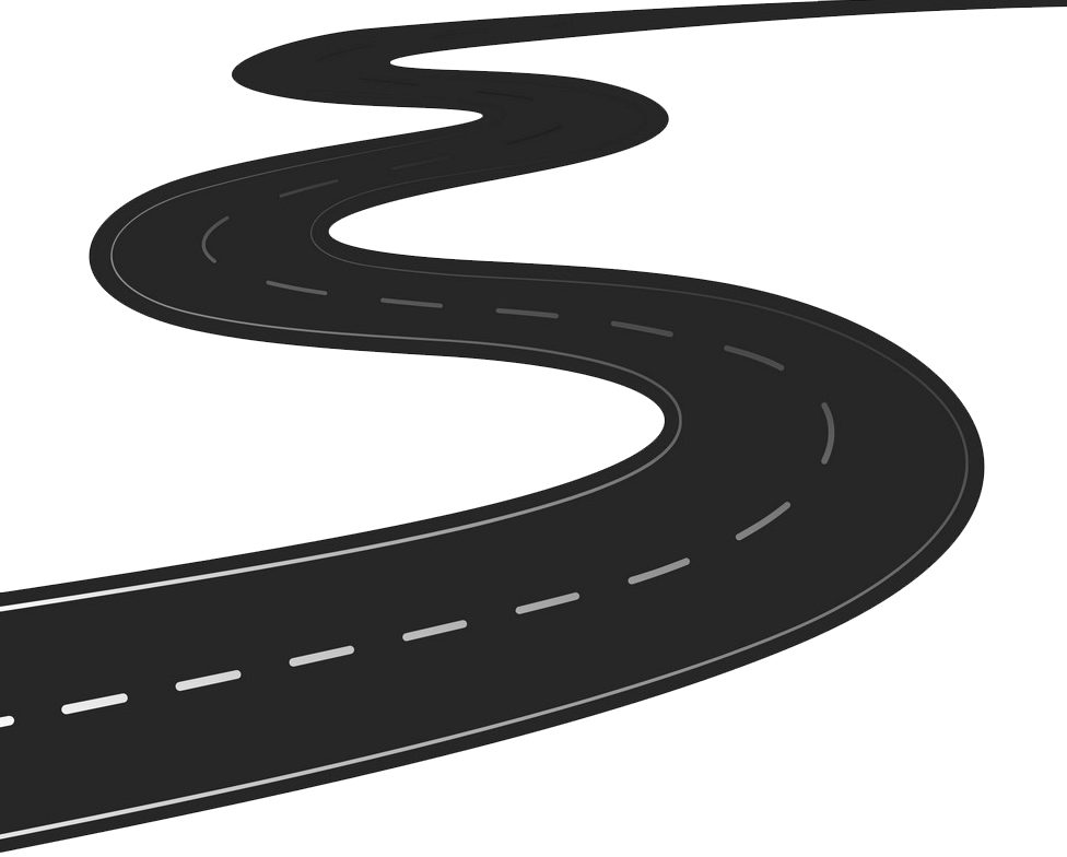 Winding Road clipart transparent 1