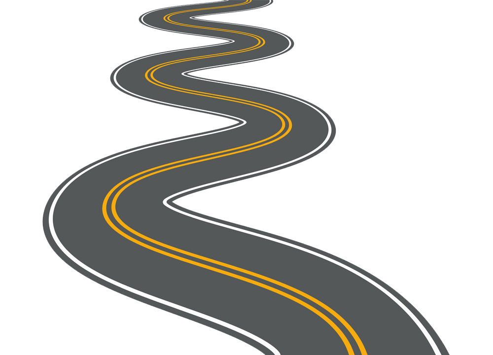 Winding Road clipart transparent 2