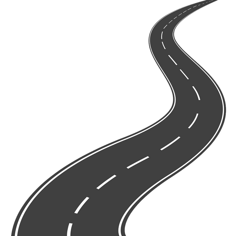 Winding Road clipart transparent 3