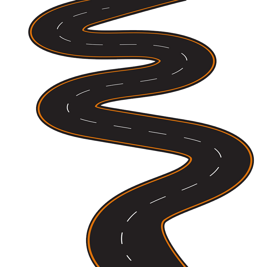 Winding Road clipart transparent 4