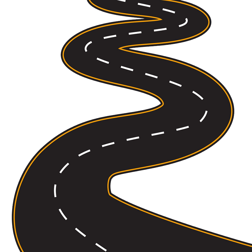Winding Road clipart transparent