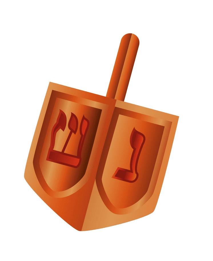 Wooden Dreidel clipart