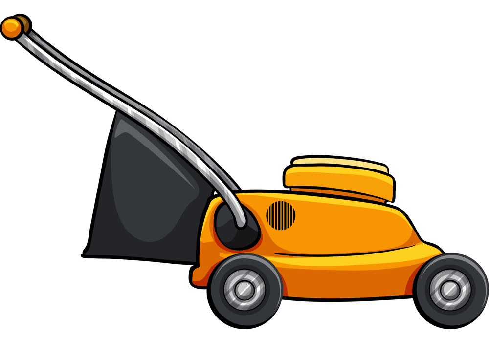 Yellow Lawn Mower clipart png