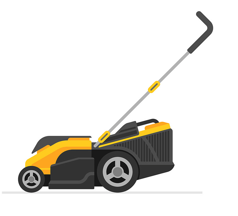 Yellow Lawn Mower clipart