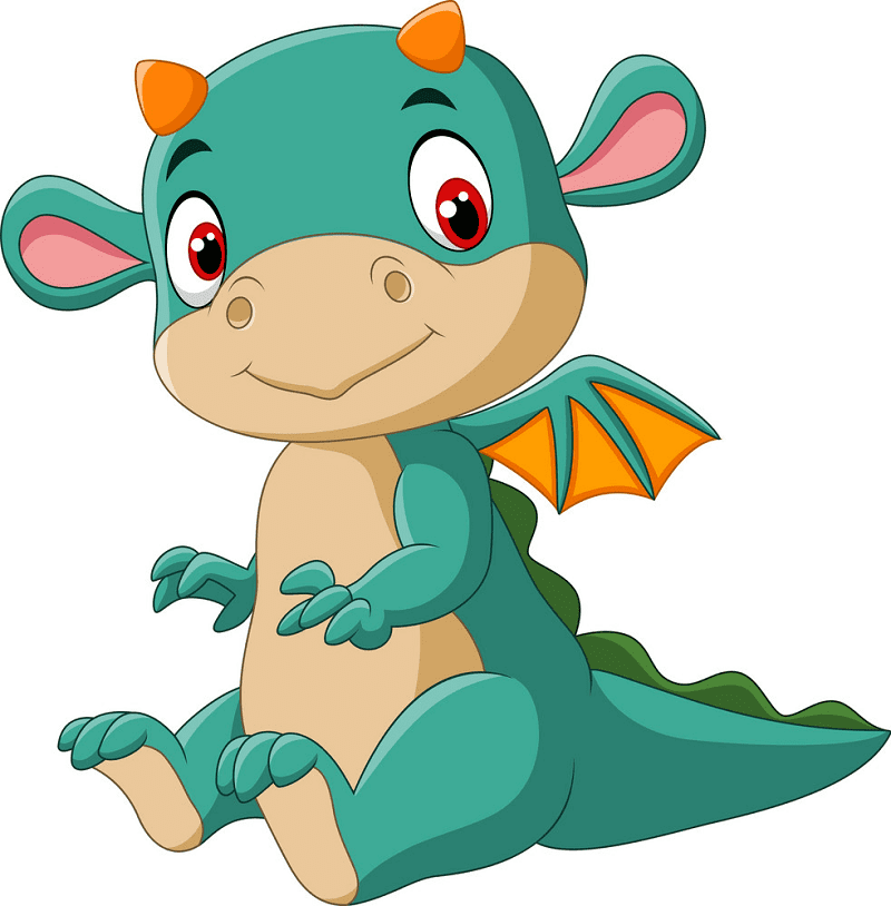Baby Dragon clipart 2