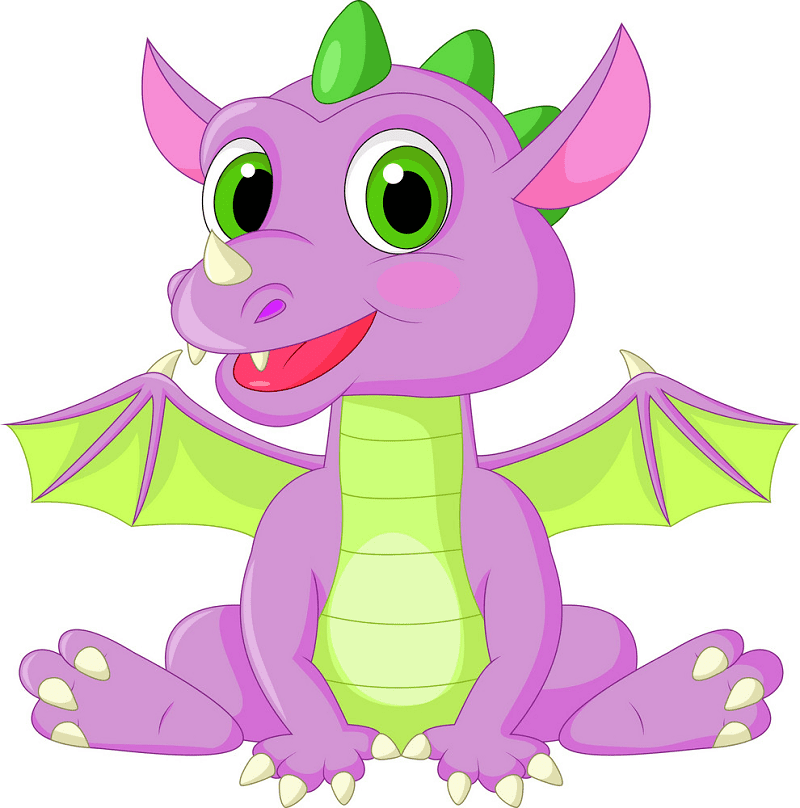 Baby Dragon clipart 4