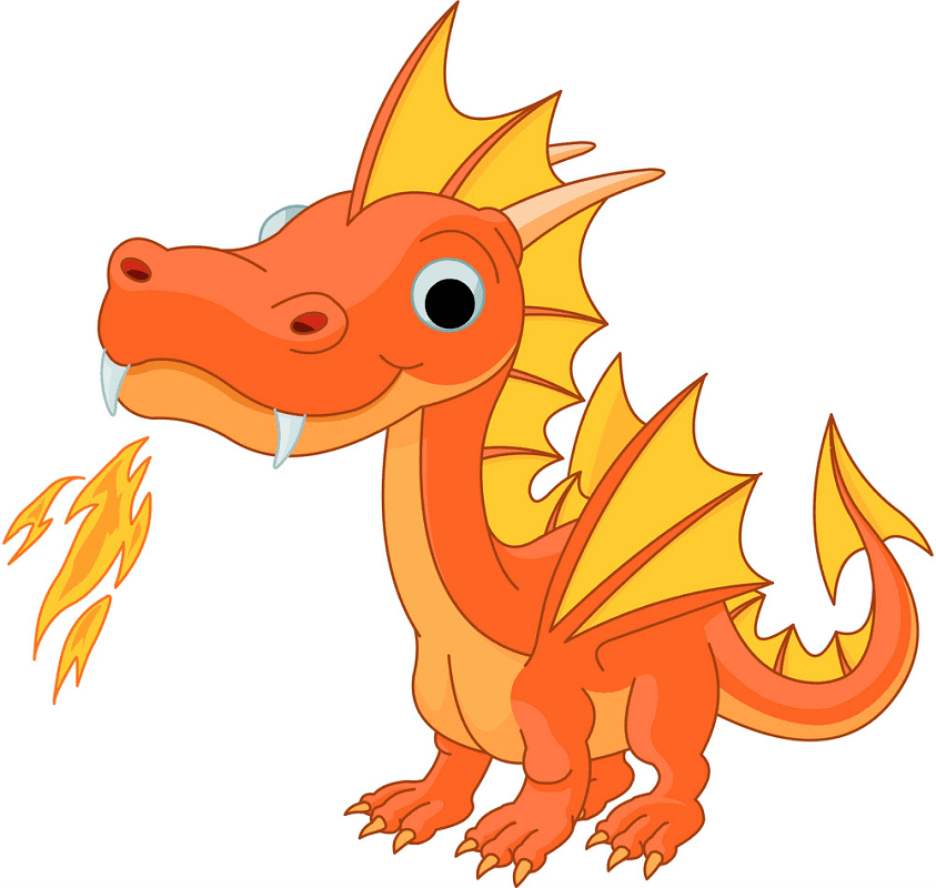 Baby Dragon clipart 8
