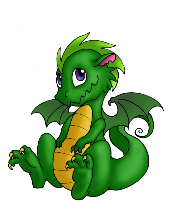 Baby Dragon clipart free image