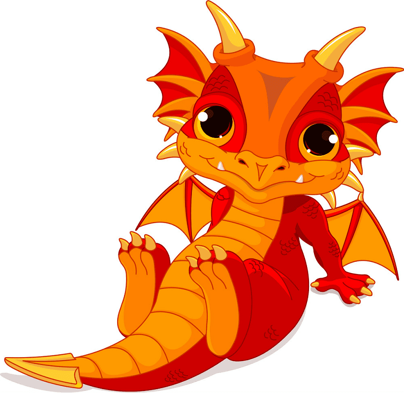 Baby Dragon clipart free