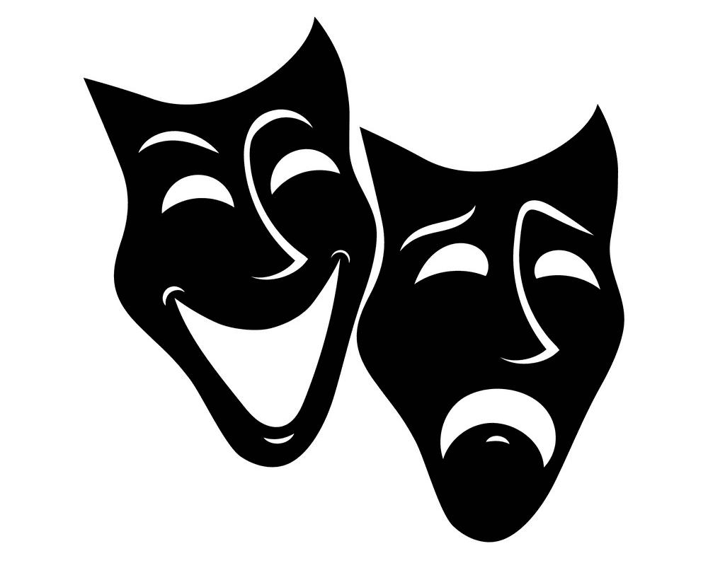Black Theatre Mask clipart