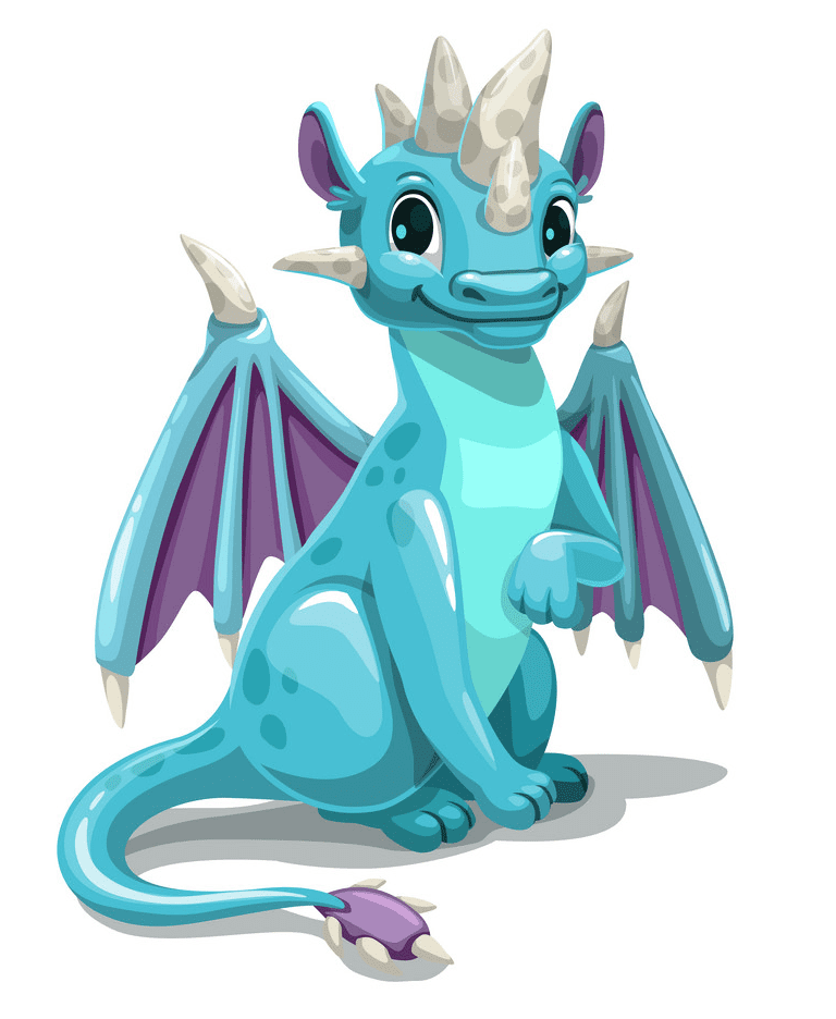 Blue Dragon clipart free images