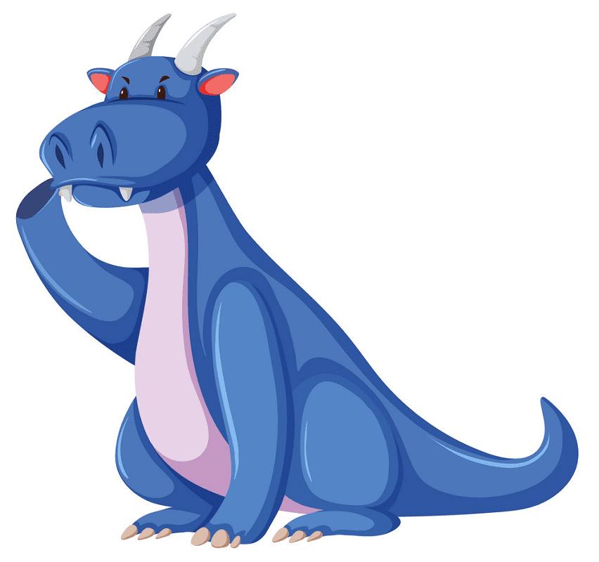 Blue Dragon clipart free