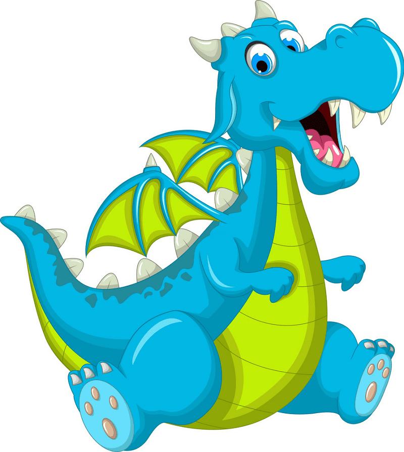 Blue Dragon clipart images