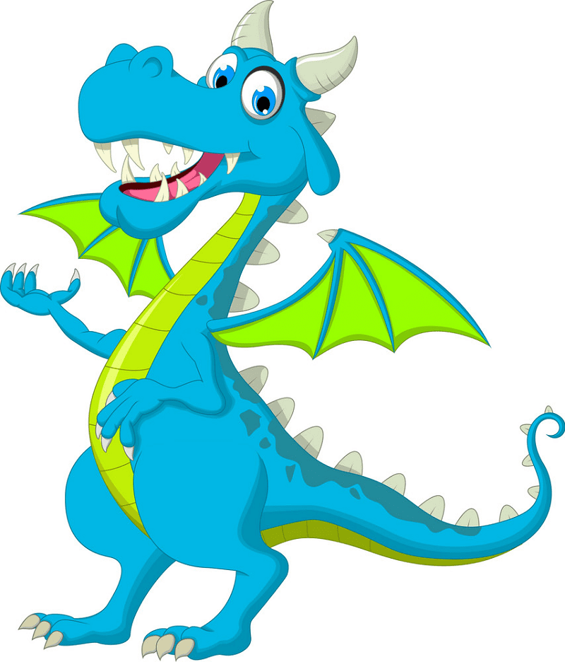 Blue Dragon clipart png image