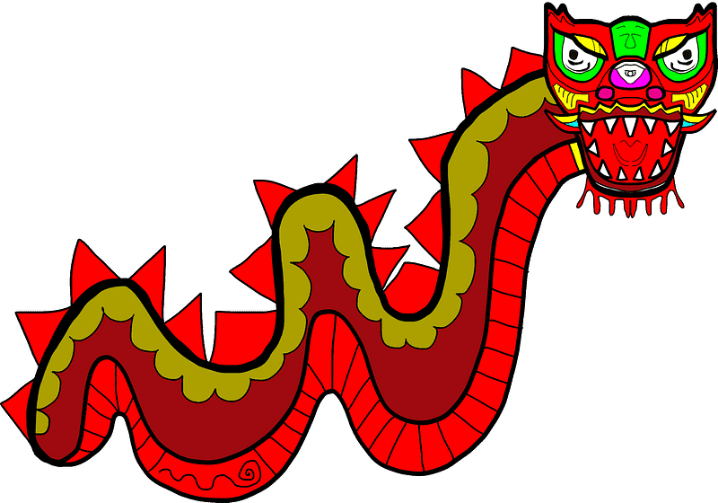 Chinese Dragon clipart transparent 2