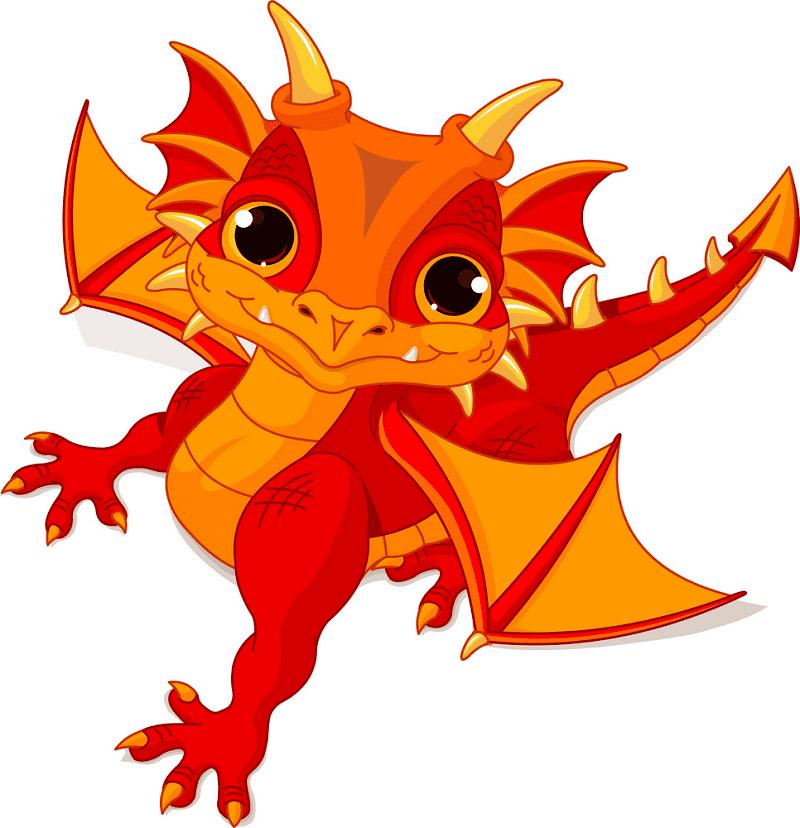 Cute Baby Dragon clipart