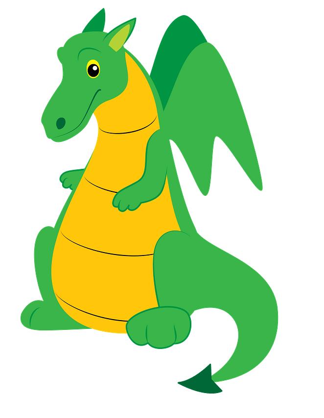 Cute Green Dragon clipart