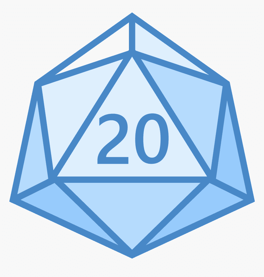 D20 Dice clipart png free