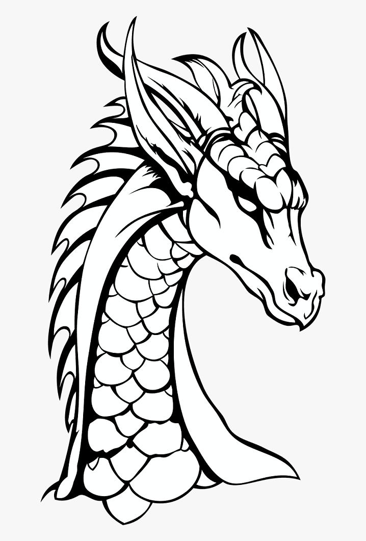 Dragon Black and White clipart 3
