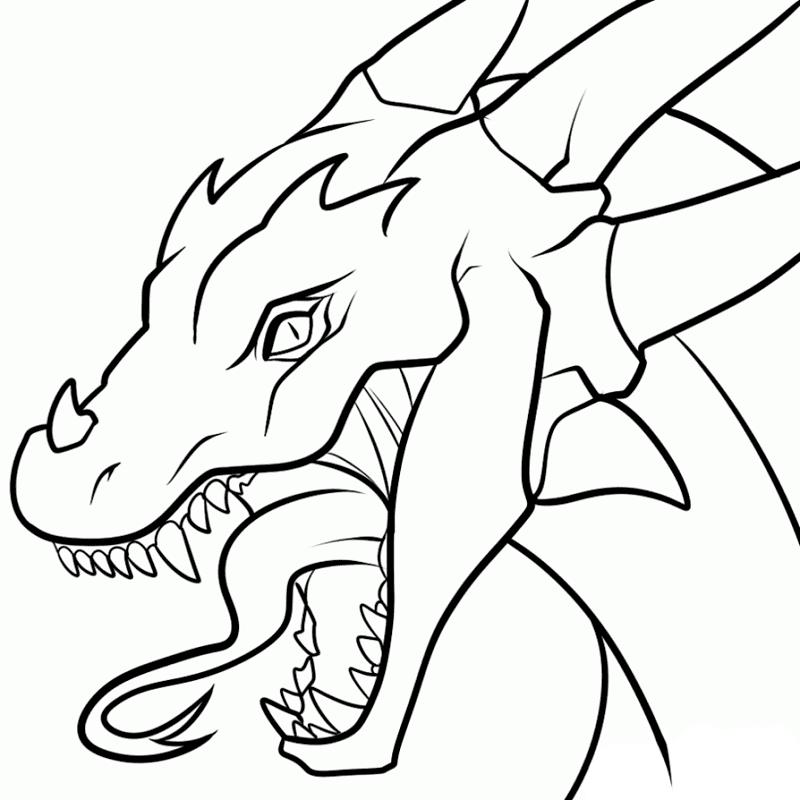Dragon Black and White clipart 5