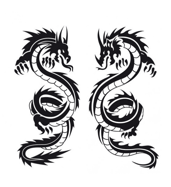 Dragon Clipart Black and White free