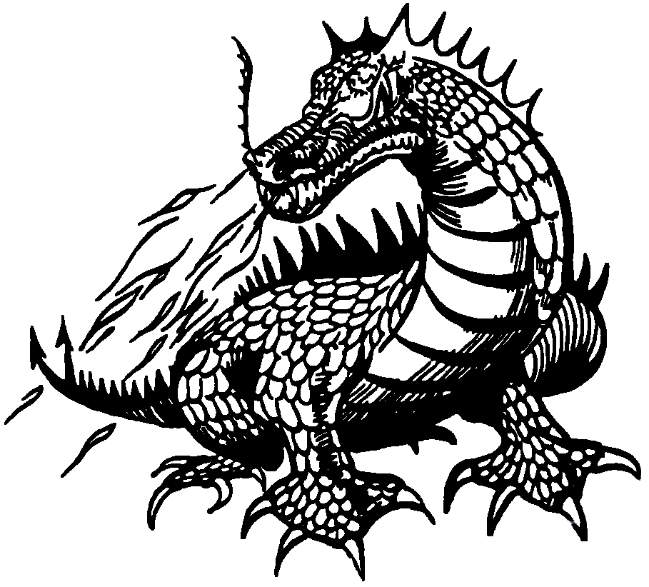 Dragon Clipart Black and White image