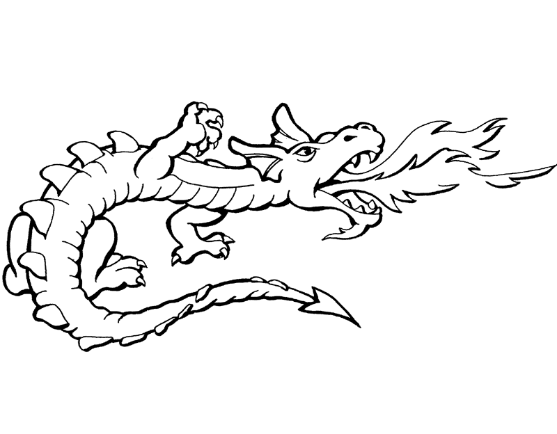 Dragon Clipart Black and White png image