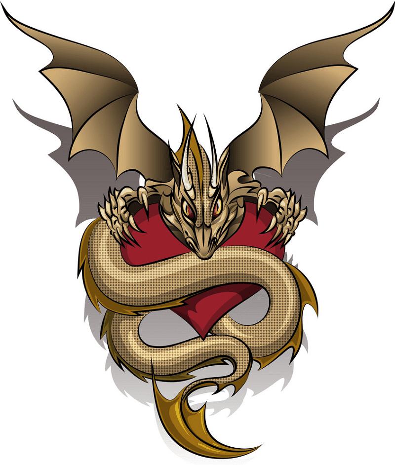 Dragon clipart free 5