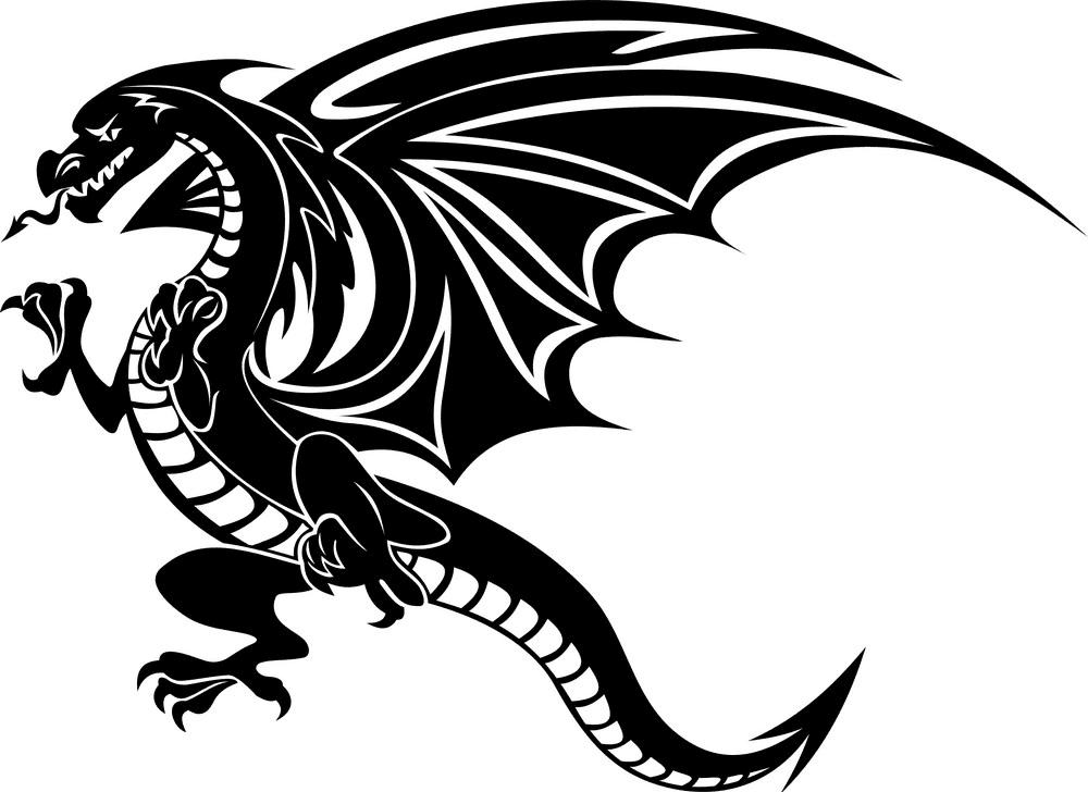 Dragon clipart free 6