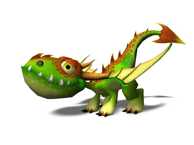 Fire Baby Dragon clipart