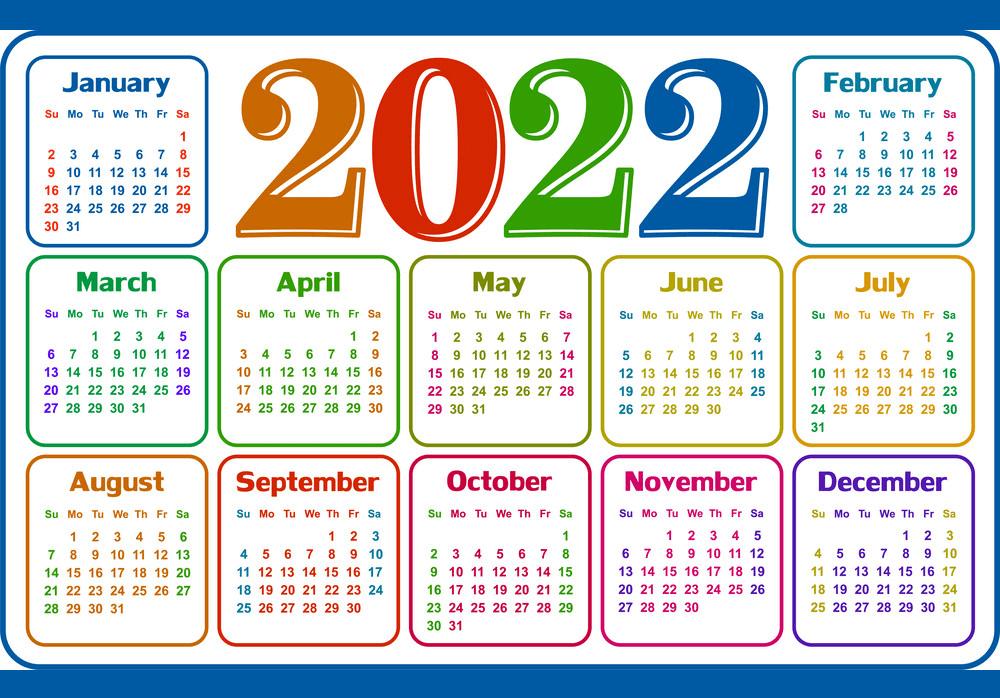 2022 Calendar Clipart