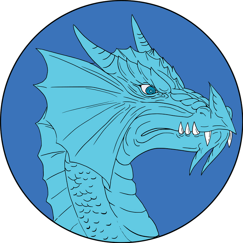 Free Blue Dragon clipart