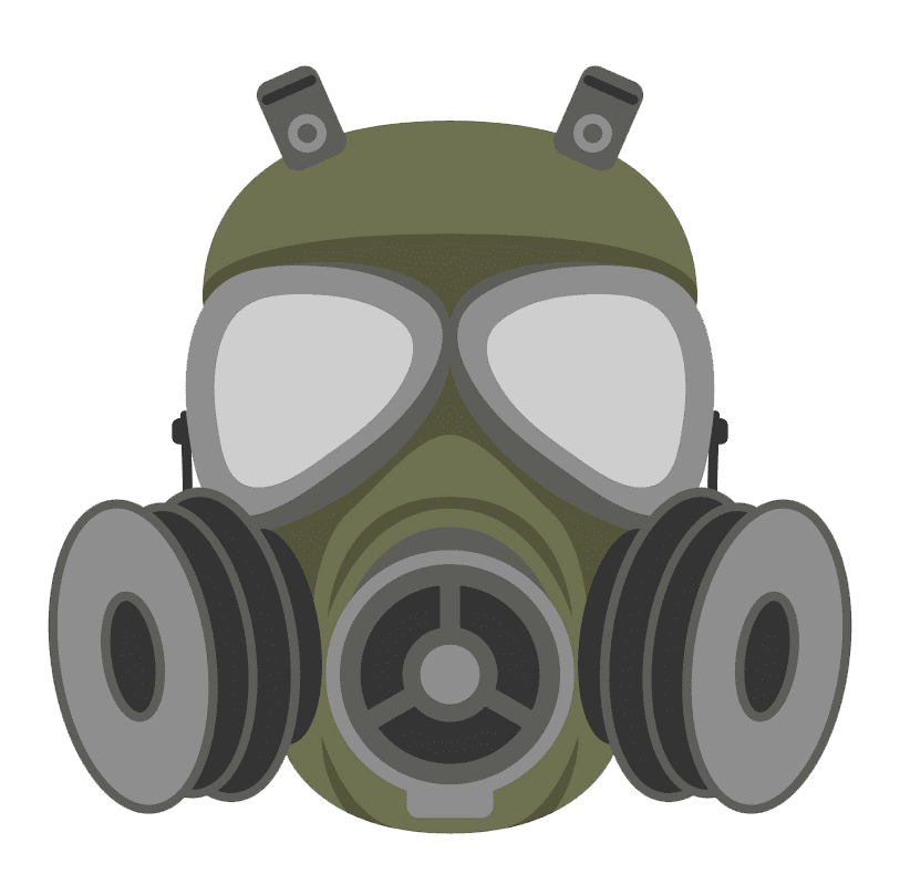 Free Gas Mask clipart transparent