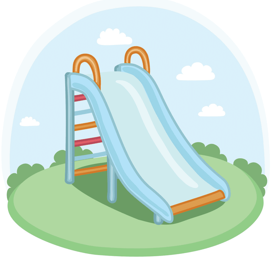 Free Playground Slide clipart image