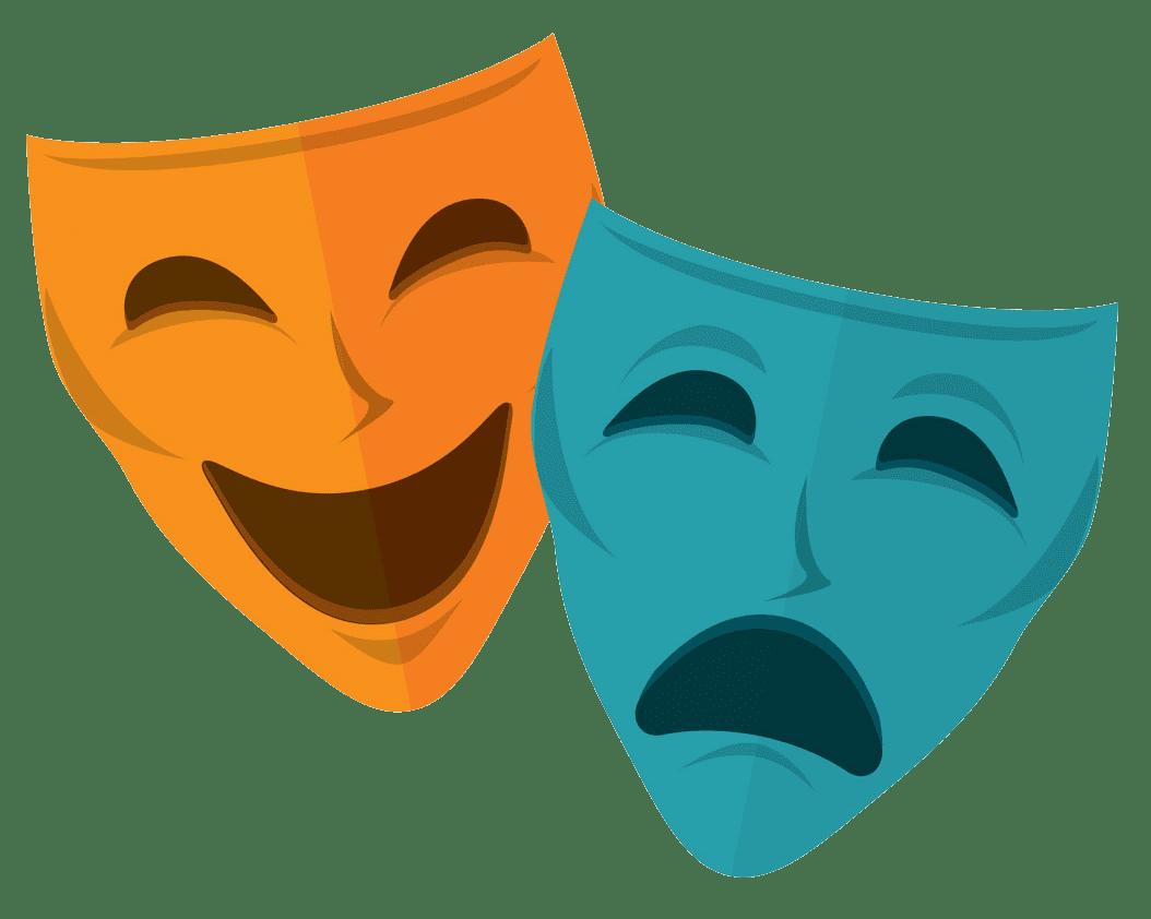 Free Theatre Mask clipart transparent