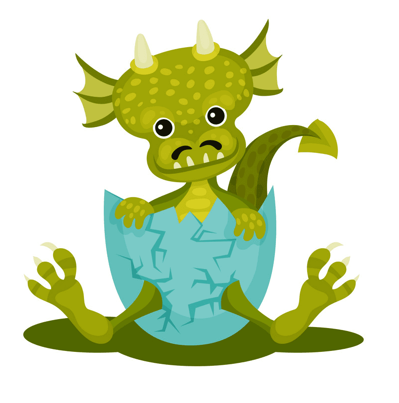 Funny Baby Dragon clipart