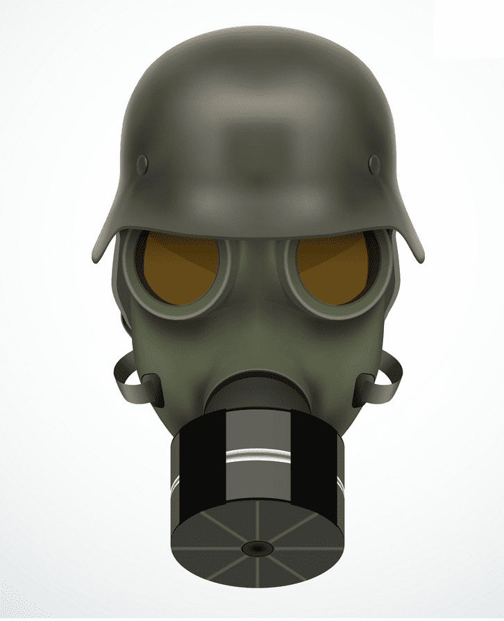 German Gas Mask clipart