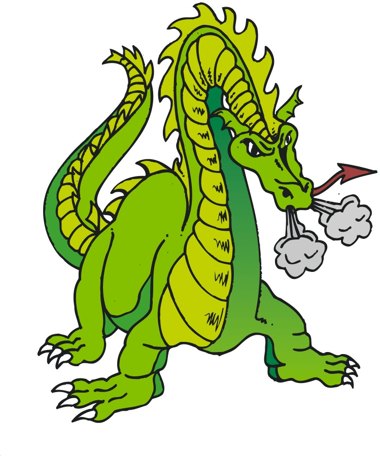 Green Dragon clipart free image
