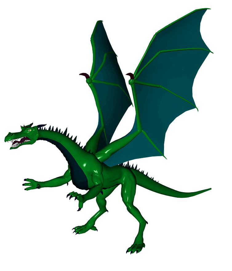 Green Dragon clipart free