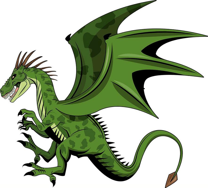 Green Dragon clipart png
