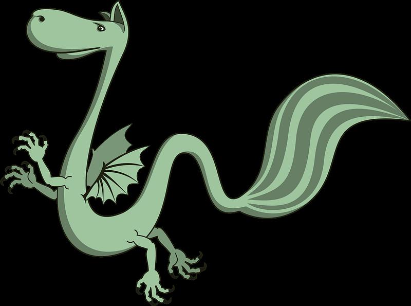 Green Dragon clipart transparent